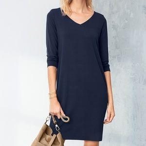 Eileen Fisher Viscose Jersey Dress in Midnight